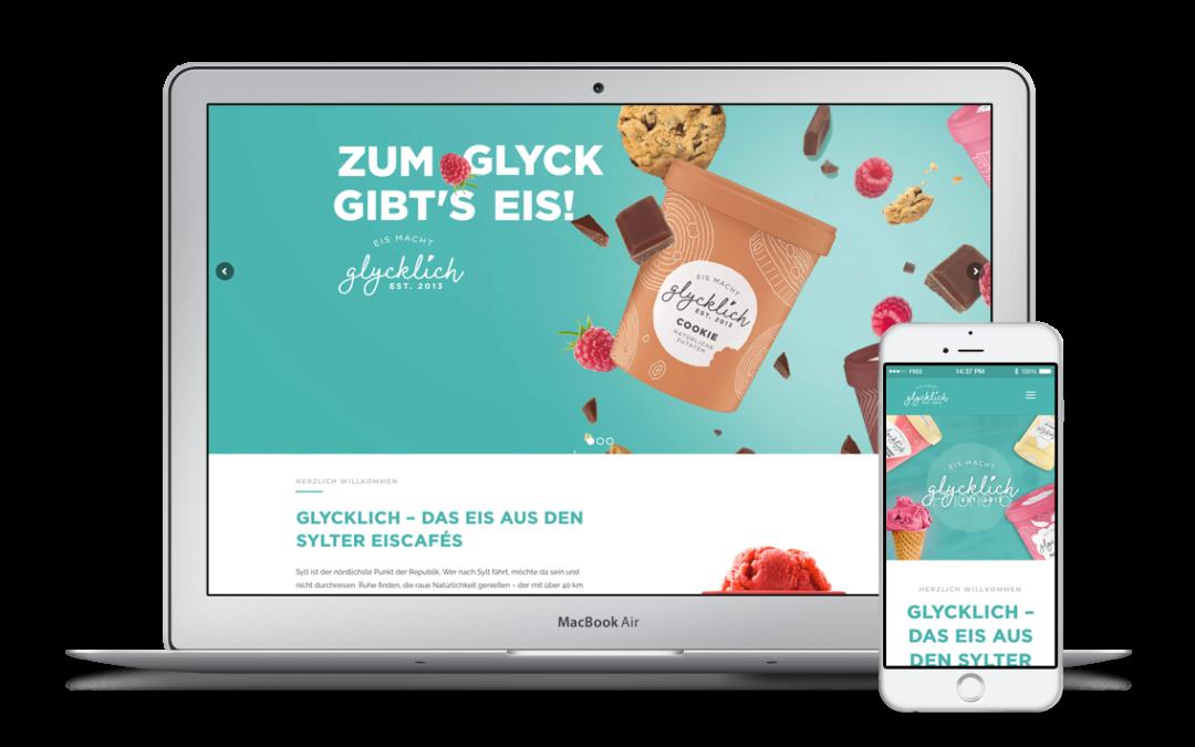 Webdesign für glycklich.com – das Eis aus den Sylter Eiscafés