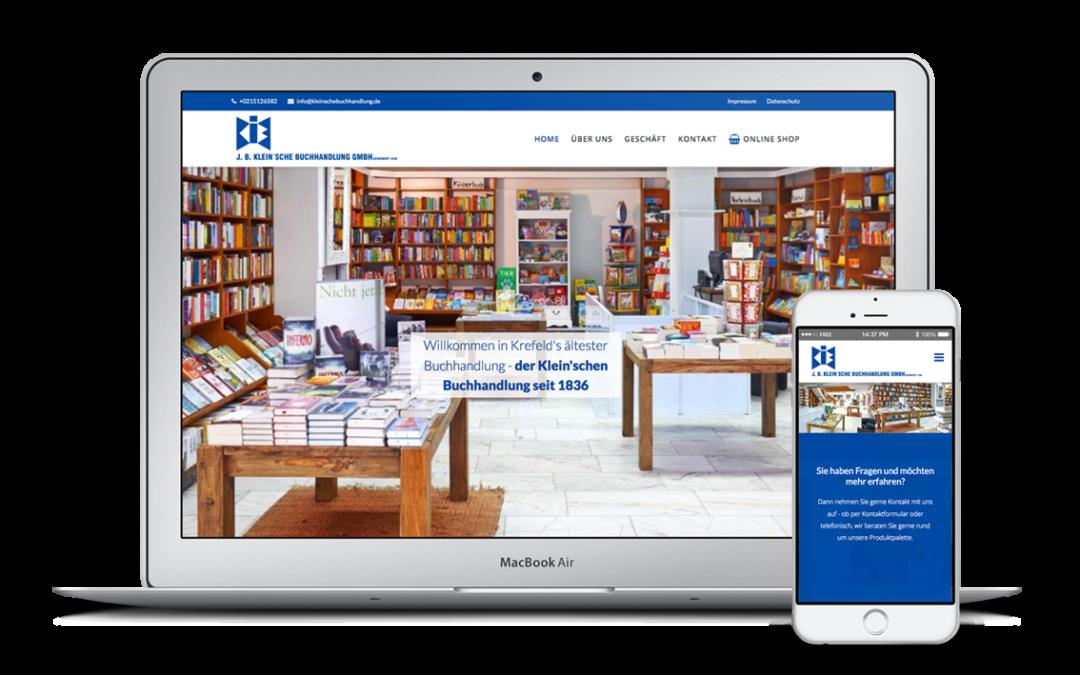 Webdesign für die Kleinsche Buchhandlung in Krefeld