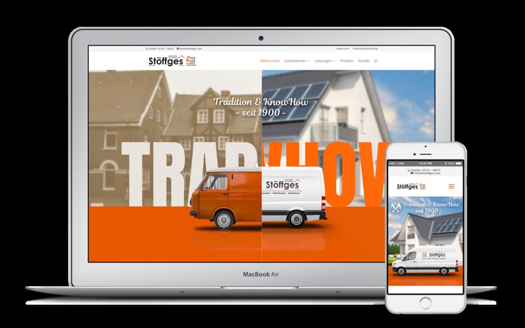 Webdesign – Dachdecker Meisterbetrieb Arnold Stöffges aus Krefeld-Uerdingen